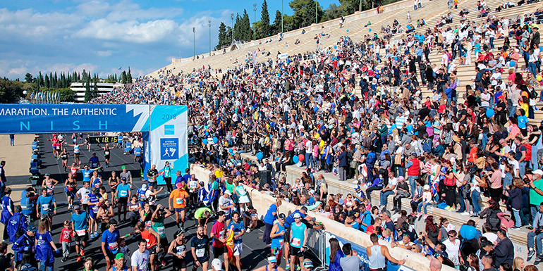 Athens Marathon slide