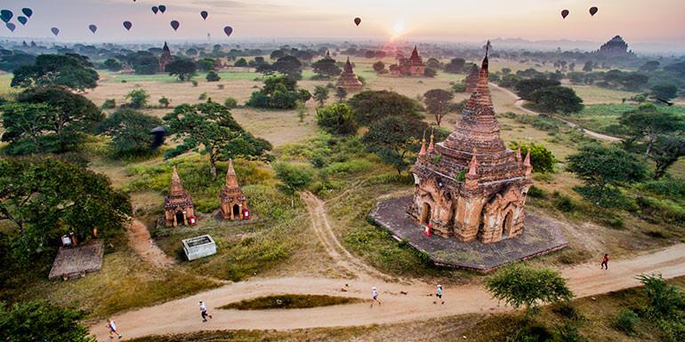 Bagan Temple Half Marathon slide