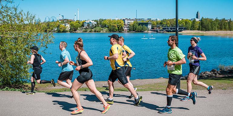Helsinki Half Marathon slide