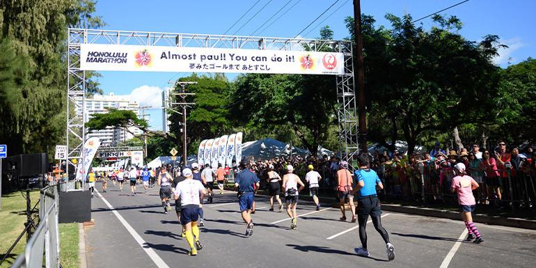 Honolulu Marathon slide