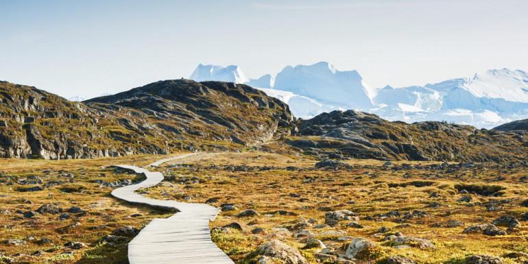 Icefjord Midnight Marathon slide