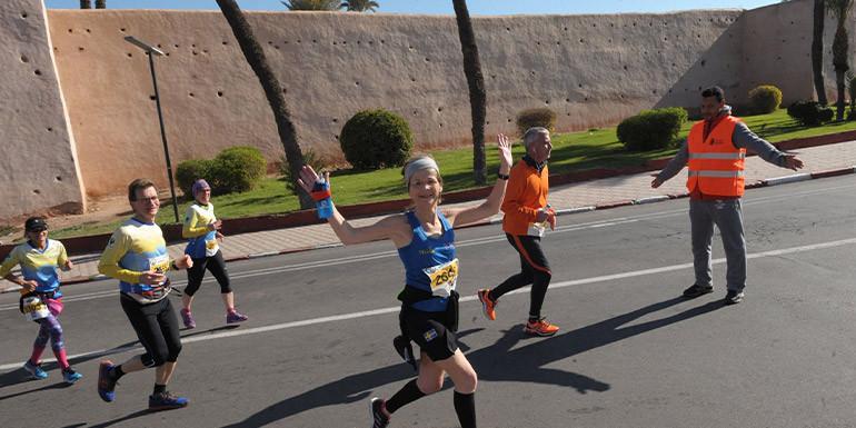 Marrakech Marathon slide