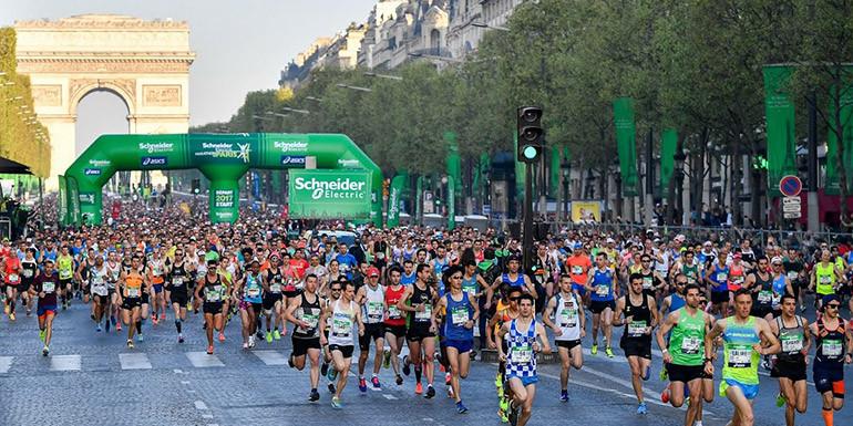 Paris Marathon slide