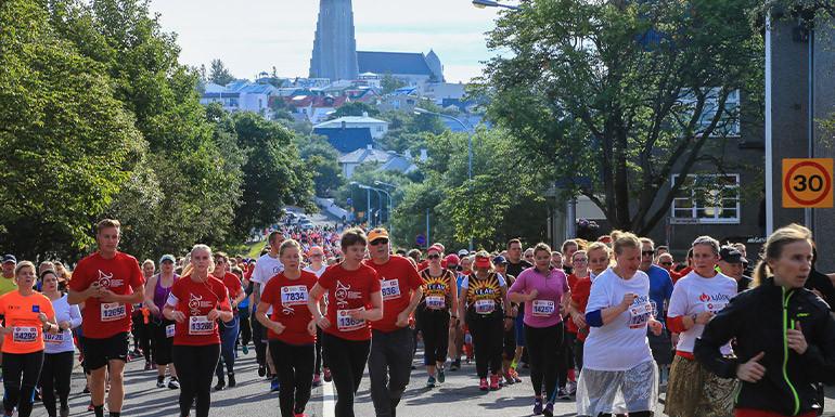 Reykjavik Marathon slide