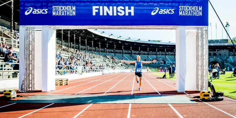 Stockholm Marathon slide