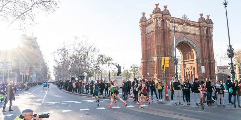 Barcelona Half Marathon slide